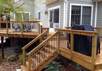 Wood deck on piers